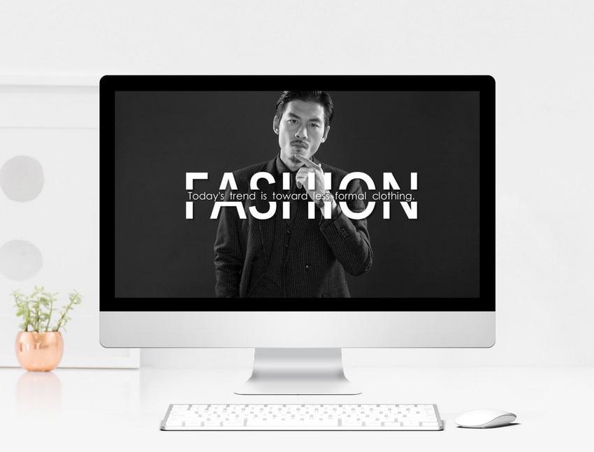 Black And White Fashion Fashion Album Ppt Universal Template