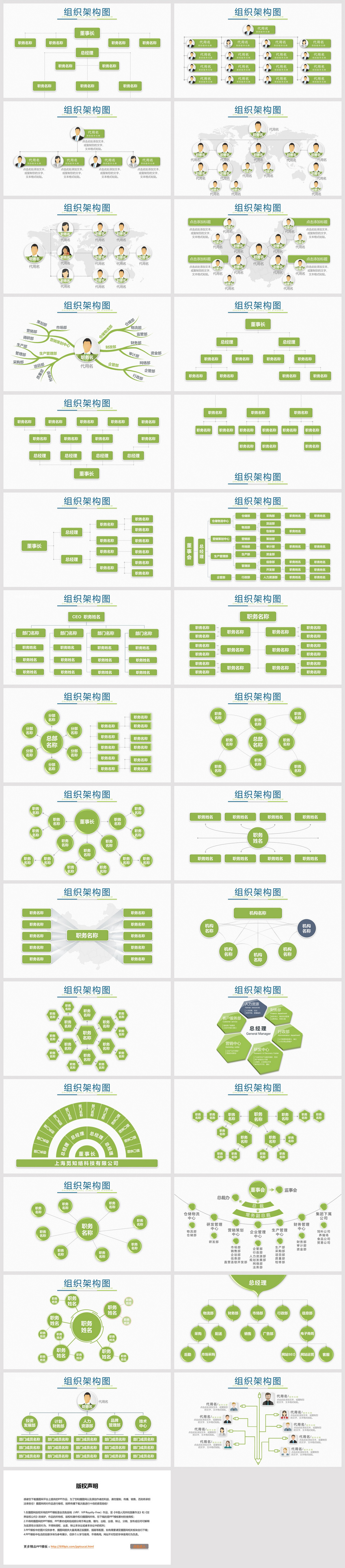 Fresh Green Business Organization Structure Ppt Chart Collection