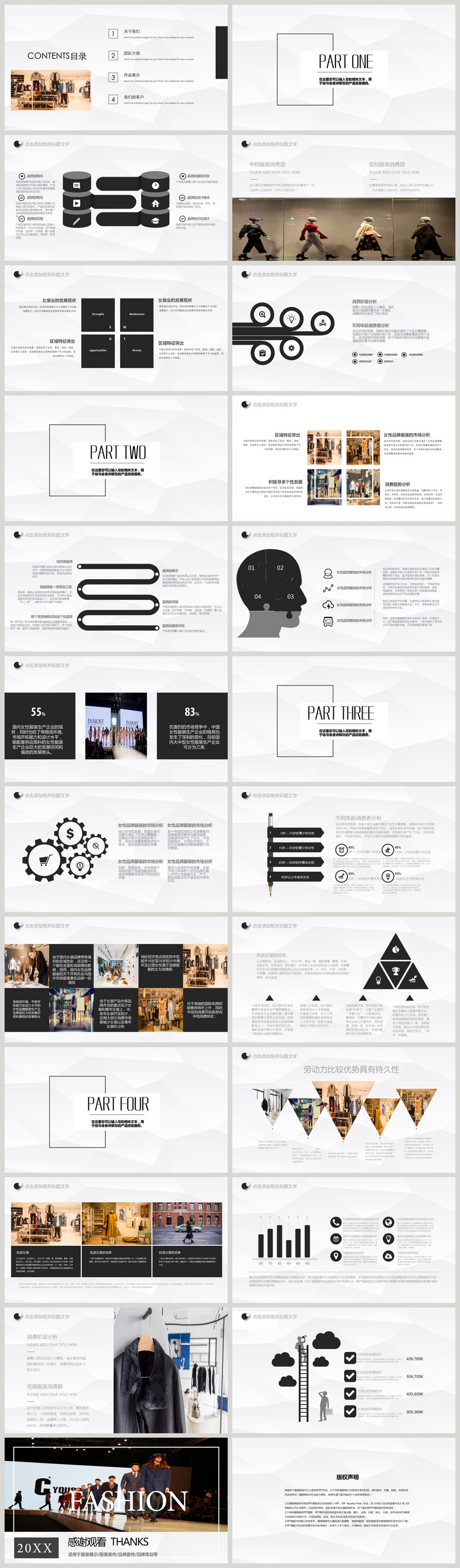 Fashion brand clothing conference ppt template powerpoint