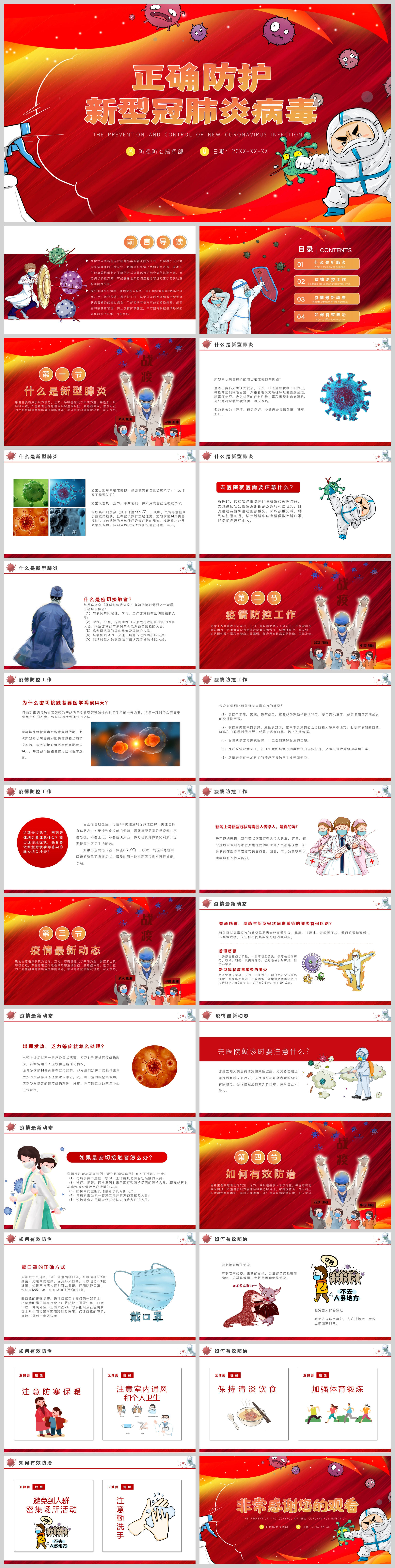 Proper Protection Of New Coronary Pneumonia Virus Ppt Template Powerpoint Templete Ppt Free Download 401678673 Lovepik Com