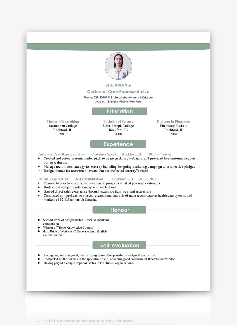 English Resume Template Word Template Word Free Download 400115555 Docx File Lovepik Com