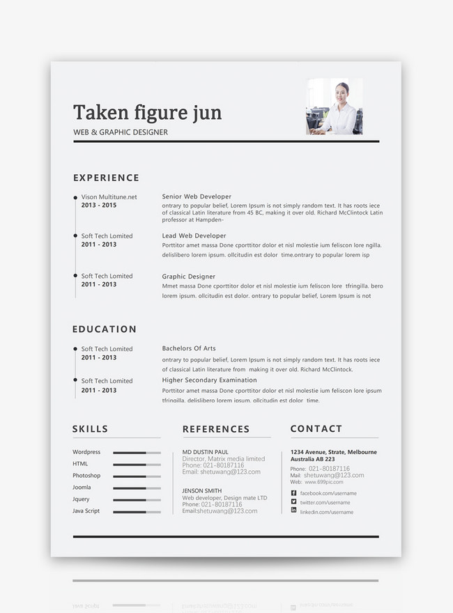 graphic designers english resume template