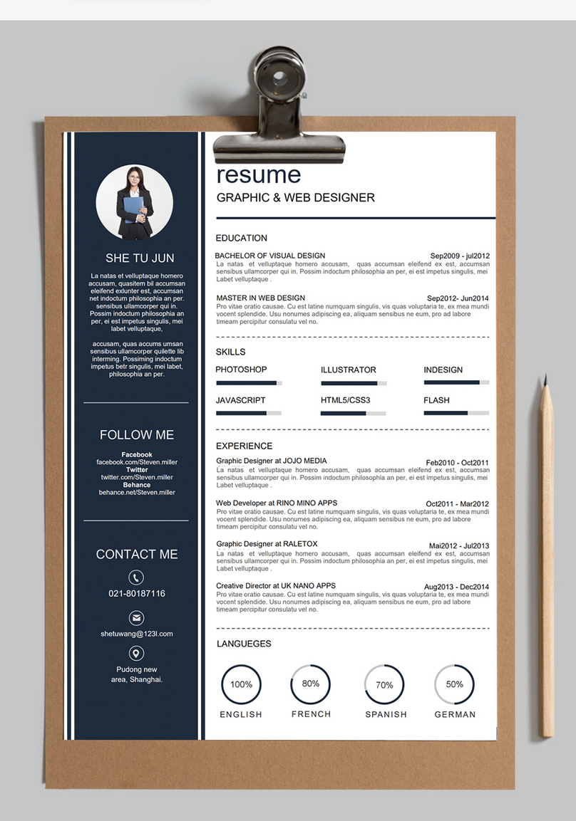 Web Designer S Resume Template Word Template Word Free Download