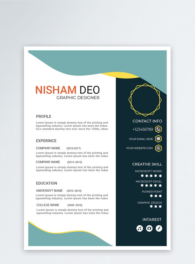 best green clean english resume